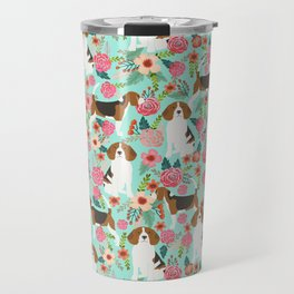 Beagle floral pattern dog breed gifts must have beagles florals pupper Travel Mug