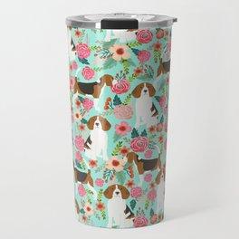 Beagle floral pattern dog breed gifts must have beagles florals pupper Travel Mug