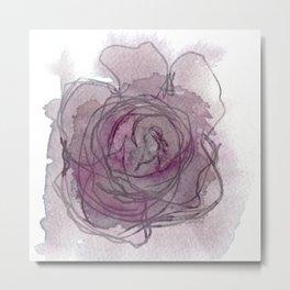 Rose - Abstract Watercolour Metal Print