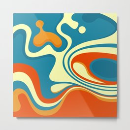 Oily Swirl Abstract Metal Print