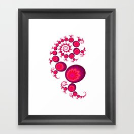 Pretty Pink Paisley on White Framed Art Print