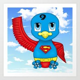 Superhero bird 2 Art Print
