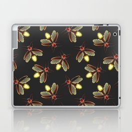 Scattered Glowing Fireflies at Night Laptop & iPad Skin