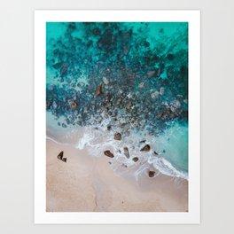 The Ocean Drone Photo Art Print
