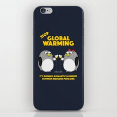 Global warming is ruining romantic moments iPhone & iPod Skin