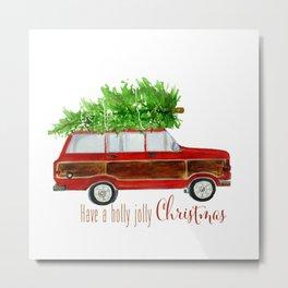 Christmas Wagoneer  Metal Print