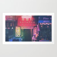 A Moment in Chinatown Art Print