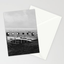 Downed Plane In Iceland Stationery Cards