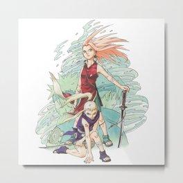 Ino & Sakura Metal Print