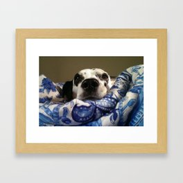 Queen of the Saturday Morning Blankies Framed Art Print