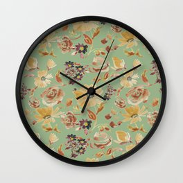 summer watercolor neutral Wall Clock