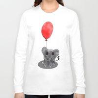 ballon Long Sleeve T-shirts featuring Look At My Ballon by Alexandra Sutherland