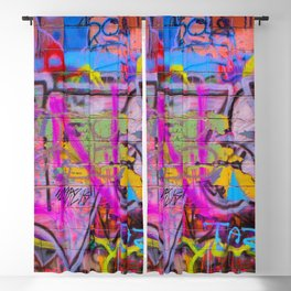 Bright Graffiti Blackout Curtain