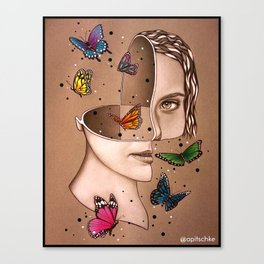 Sectioned Spirit Canvas Print