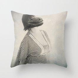 Snake Woman Throw Pillow