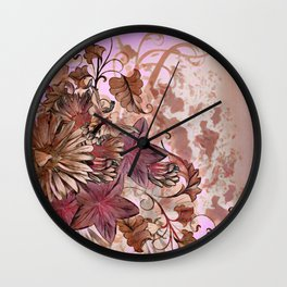 Floral Flourish Wall Clock