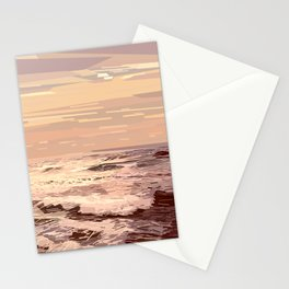 Sea waves at sunset #ocean #horizon #seascape Stationery Cards