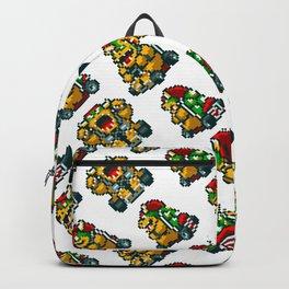 Super Mario Kart Bowser Pattern | transparent Backpack