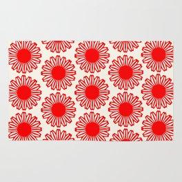 vintage flowers red Rug