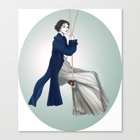 pride and prejudice Canvas Prints featuring Fashion Illustration - Pride & Prejudice by BeckiBoos