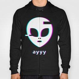 Ayyy - Aesthetic Meme Vaporwave Alien Hoody