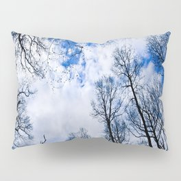 Reaching blue Pillow Sham