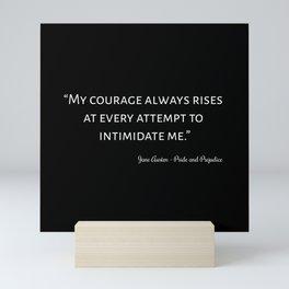 The Pride and Prejudice Quote I Mini Art Print