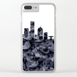 Milwaukee Skyline Wisconsin Clear iPhone Case