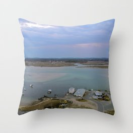 Harbor's End of Day Throw Pillow