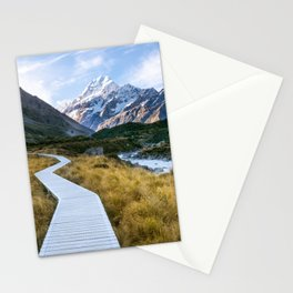 Mt.Cook New Zealand - A hikers dream Stationery Cards