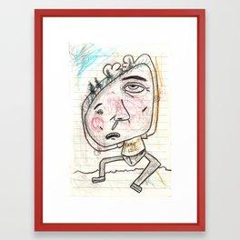 Itchy Head Framed Art Print