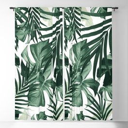 Tropical Jungle Leaves Pattern #4 #tropical #decor #art #society6 Blackout Curtain