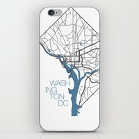 washington dc iPhone & iPod Skins featuring Washington, DC by linnydrez