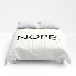 Nope. Comforters