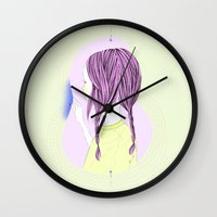 sewing Wall Clocks featuring Sewing by hisano