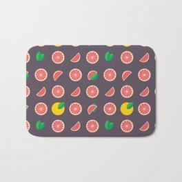 Abstract red yellow purple grapefruits pattern Bath Mat