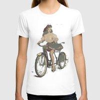 pinup T-shirts featuring Pinup bike by yumifuji