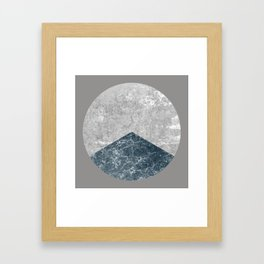 Concrete Silk Framed Art Print