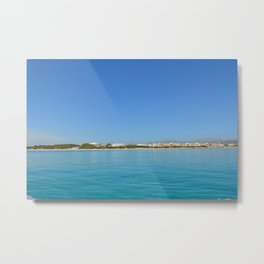 holiday in one paradise island Metal Print