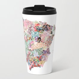 Spain map flowers composition Travel Mug