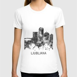 Ljubljana Skyline BW T-shirt