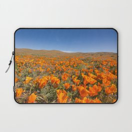 Blooming poppies in Antelope Valley Poppy Reserve Laptop Sleeve