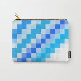 Blue pixel wave Carry-All Pouch