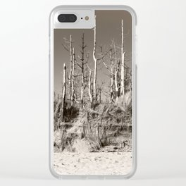 Dead Trees On The Beach Clear iPhone Case