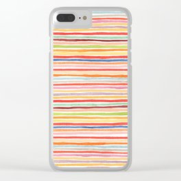 Robayre Watercolor Lines Clear iPhone Case