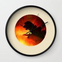 godzilla Wall Clocks featuring godzilla by avoid peril