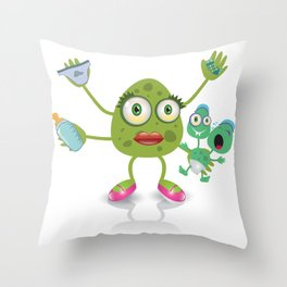 babysitter monster Throw Pillow