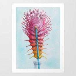 Caterpillar on a Straw Art Print