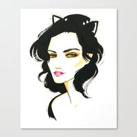 selena Canvas Prints featuring Selena Kyle by Made on Sundays