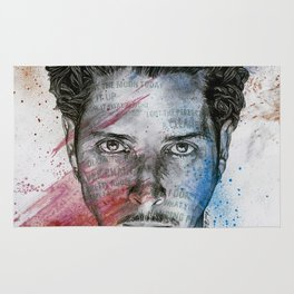 Pretty Noose: Red & Blue: Tribute to Chris Cornell Rug